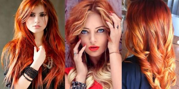 Девушки с брондированием на рыжих волосах