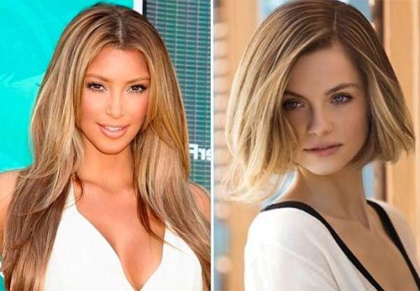 Окантовочное брондирование на русые волосы