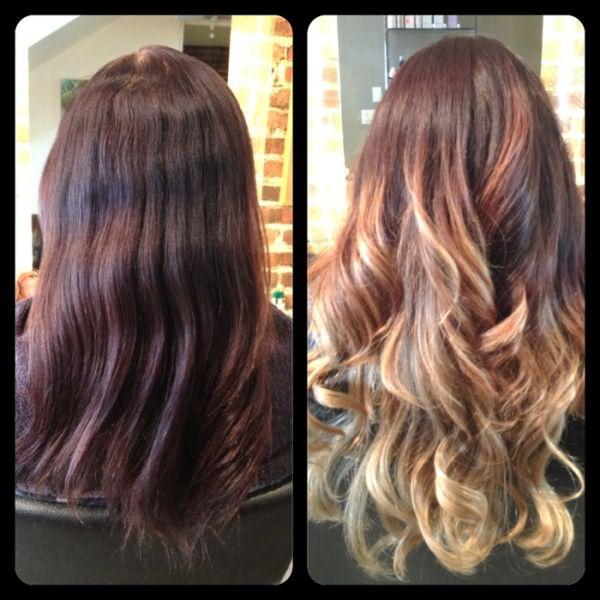 переход между цветами волос