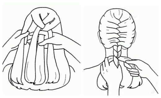 Плетение колоска: шаг 5-6