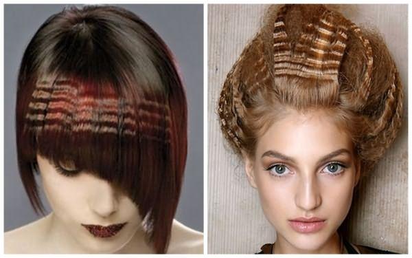 Варианты применения гофре на короткие волосы