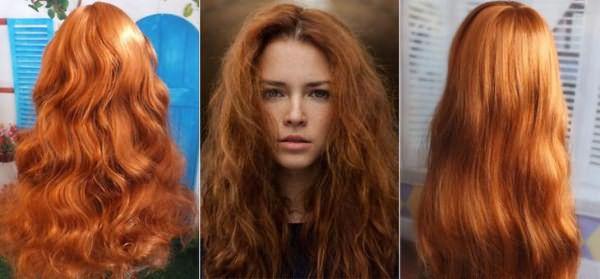 Натуральный рыжий цвет волос при использовании хны