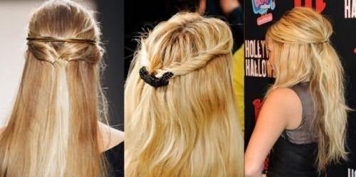 Простая прическа для длинных волос