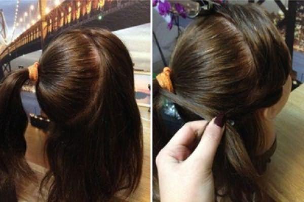 корзинка из волос классического типа
