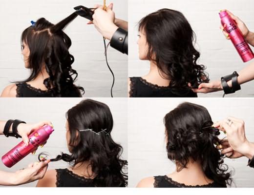 Процесс создания кудрей на концах волос