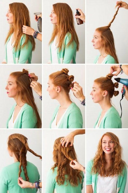 Создание волн с помощью косы