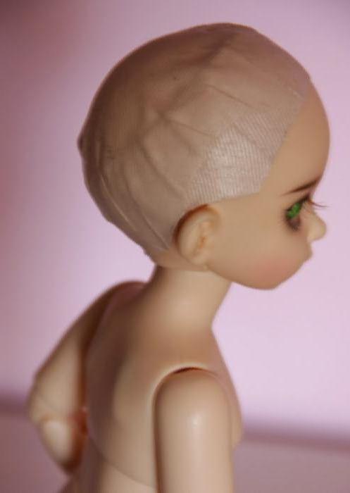 шапочка кукла парик