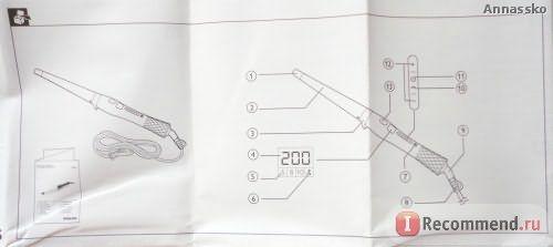 Щипцы для завивки Philips Care CurlControl HP8618 фото