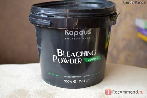 Осветляющий порошок Kapous Обесцвечивающая пудра BLEACHING POWDER фото