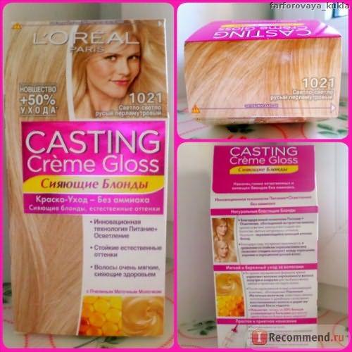 Краска для волос Loreal Casting Creme Gloss 10.21 отзывы
