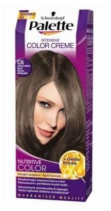 C6 – краска для волос темно русого цвета без рыжины от Palette