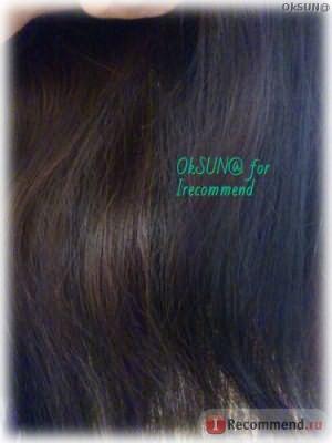 Цвет волос сразу после окрашивания. Искусственное освещение.