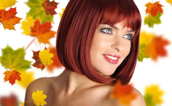 Короткие рыжие волосы