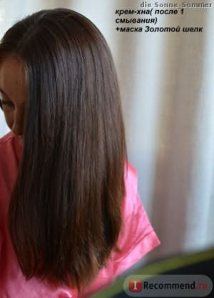 после мытья волос
