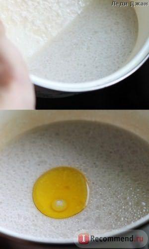 добавили в кокосовое молоко 1 ст.л. оливкового масла