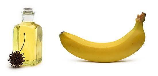 Maska s bananom i repeynym maslom