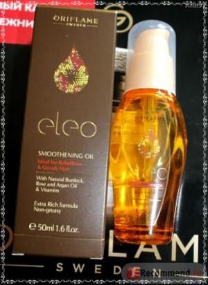 Разглаживающее масло для волос Oriflame Eleo фото