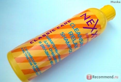 Шампунь Nexxt пилинг для очищения и релакса волос с альпийской белой глиной и экстрактом тибетских трав фото