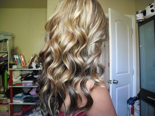 Так выглядят длинные волосы, окрашенные этим способом