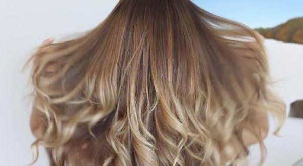 омбре на черные длинные волосы