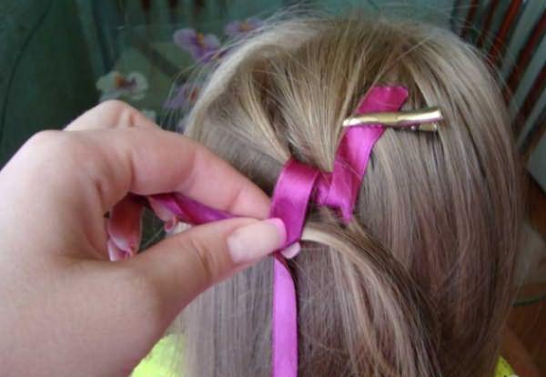 Процесс воссоздания извилистой косы: шаг 3