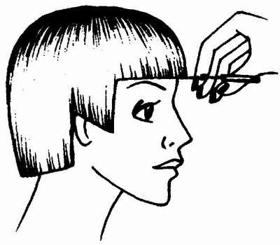 схема выполнения окантовки волос