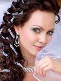 Свадебные прически на средние волосы с фатой9