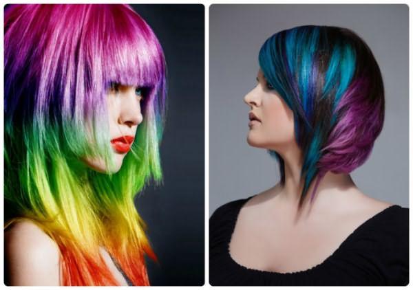 Примеры креативного окрашивания волос