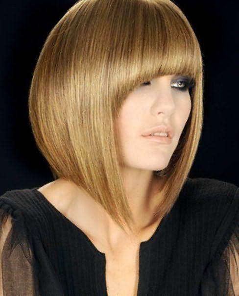стрижки на средние волосы 2014 с челкой фото