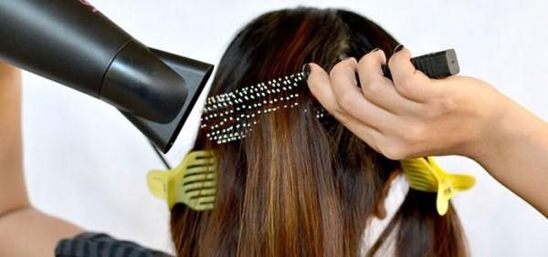 Сушка и выпрямление волос