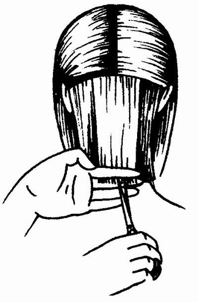 стрижка волос затылочной зоны
