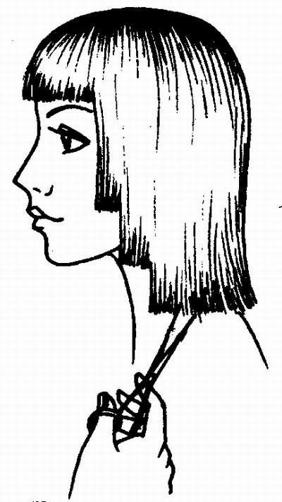 вариант окантовки волос