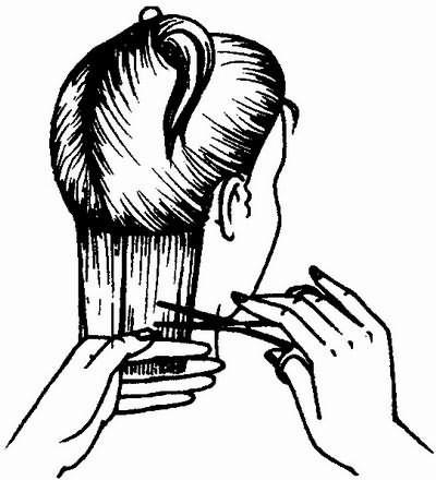 отделение первой пряди волос
