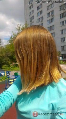 На улице, изрядно потрепанные ветром волосы))