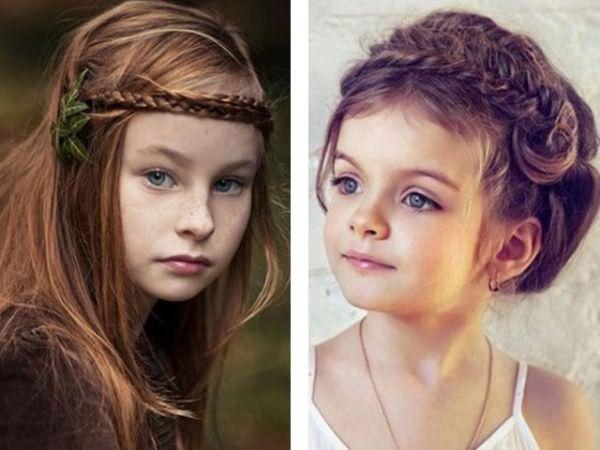 Прически с плетением для девочек