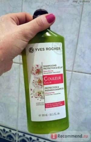 Шампунь Ив Роше / Yves Rocher для Стойкого Цвета и Блеска с Боярышником фото