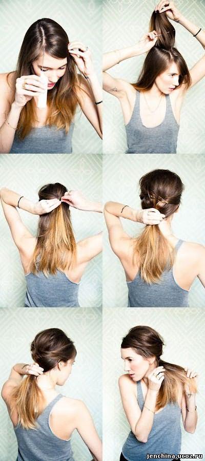 прически на волосы своими руками