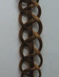 Образец четырехпрядной косы