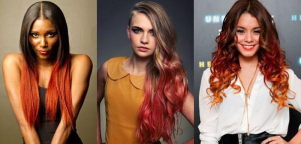 Языки пламя в волосах становятся все более популярными