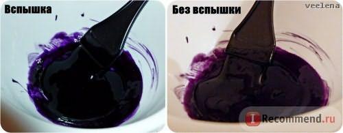 Так выглядит АЦ в миске. А01 более синяя, V05 более фиолетовая