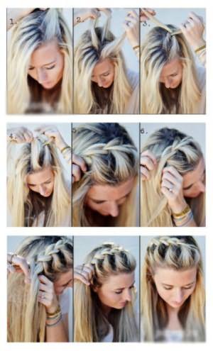 Как заплести косу-ободок