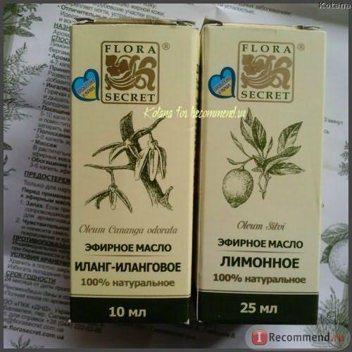 Масло лимона и иланг-иланг от Flora Secret