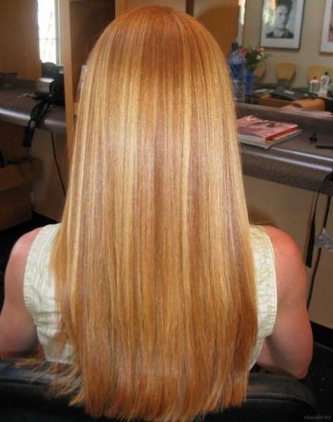 Мелкое мелирование на рыжих волосах
