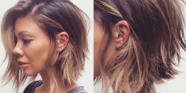 Окрашивание шатуш на волосах девушки