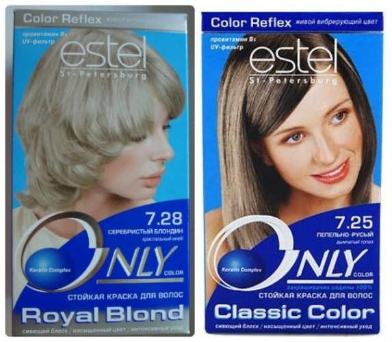 Пепельно-русый и серебристый блонд от Эстель