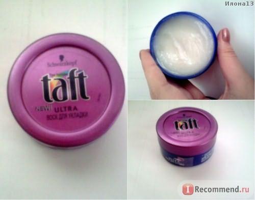 Воск для укладки Taft Ultra «Шелковое прикосновение» фото