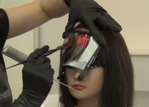 как сделать пиксельное окрашивание волос 6