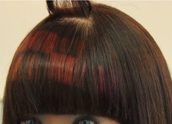как сделать пиксельное окрашивание волос 7
