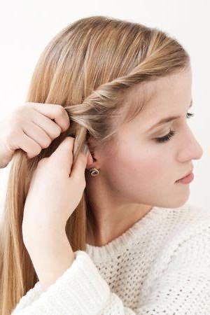Плетение романтичной косы: шаг 3