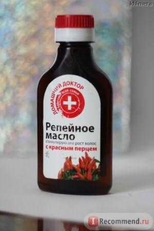 Масло репейное для волос Домашний доктор с красным перцем фото